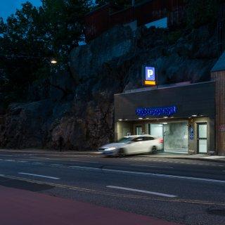 Parkeringsgarage från Strängbetong, Stigbergsgaraget i Stockholm