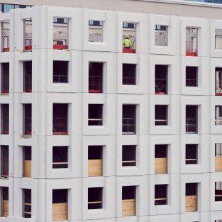 Haga Novas karakteristiska fasader.