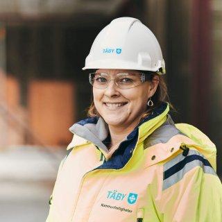 Linda Hårdén, projektledare på Täby Kommun. Hägerneholmsskolan, Täby, vars stomme levereras av Strängbetong.