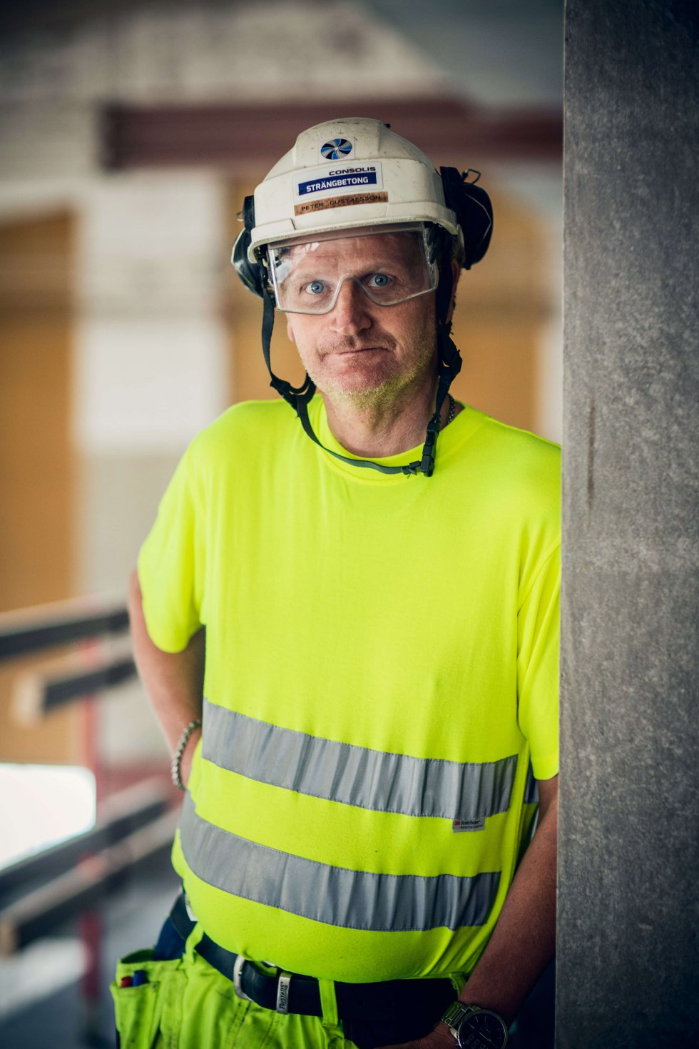 """""""Framför allt har jag eftersträvat en bra kemi i laget"""", säger Peter Gustavsson, platschef på Strängbetong."""