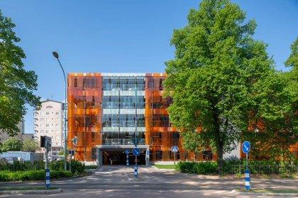 Parkeringshus levrerat av Stränghbetong vid Akademiska sjukhuset i Uppsala