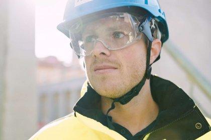 Håkan Jansson, konstruktör hos Strängbetong som har samordnat projekteringen för H-huset, till universitetssjukhuset i Örebro.