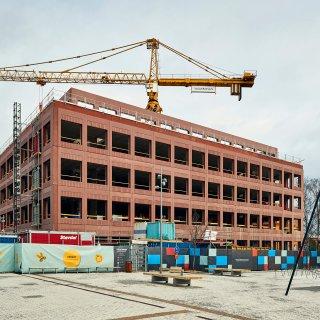 Kontorsbyggnaden Celsius i Uppsala där Strängbetong levererar stommen.