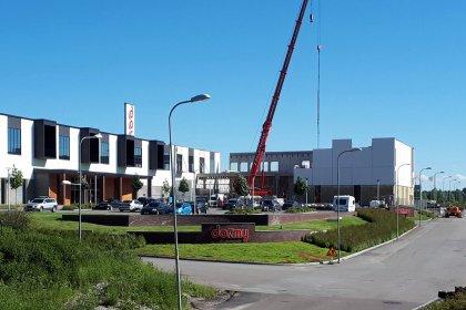 Dormy i Örebro bygger ut sin hall i betong levererad av Strängbetong.