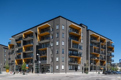 Ulriksdals nya bostadshus Jockeyn/Totalisatorn med stomme från Strängbetong