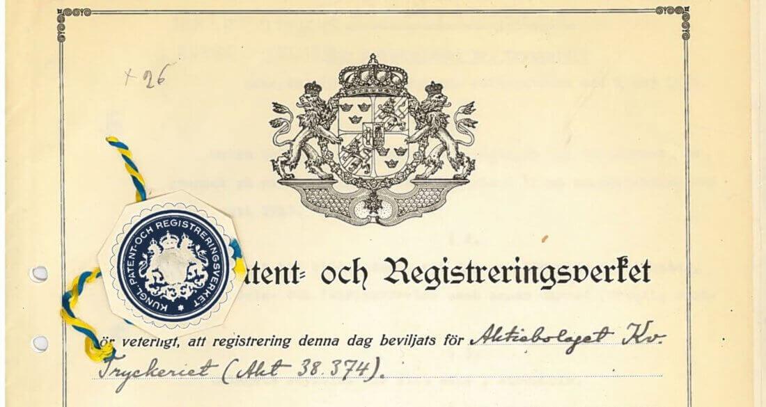 Strängbetongs föds 1939, här en bild på ettpatent avseende förspänningstekniken