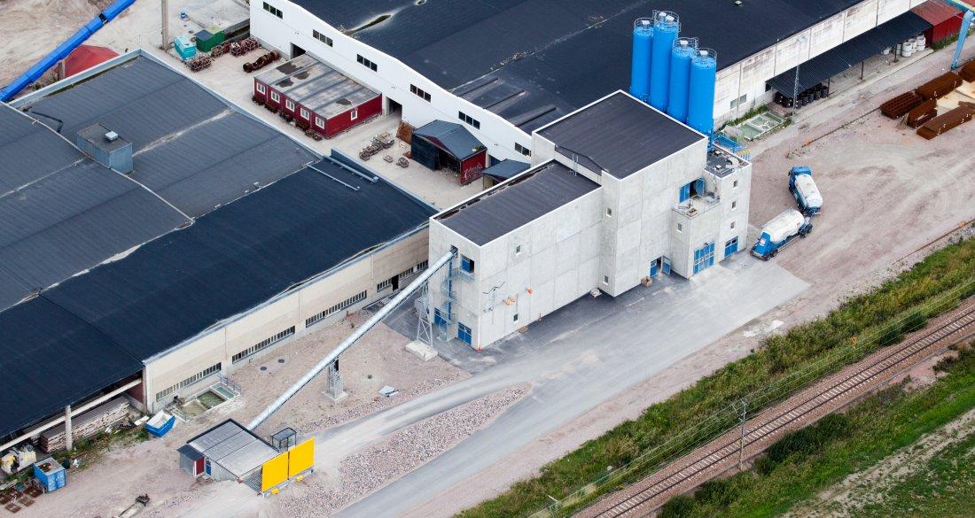Strängbetongs fabrik i Kungsör Blandarstation